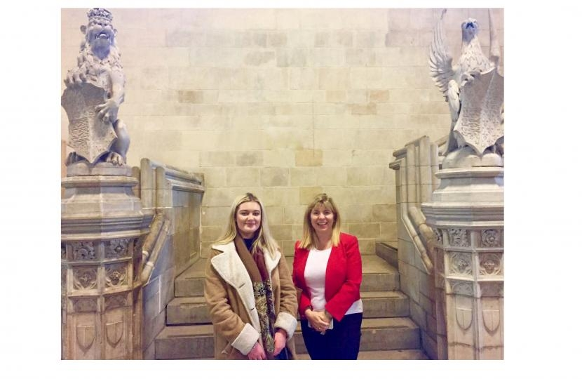 Maria Caulfield MP and Jessica Bathelor
