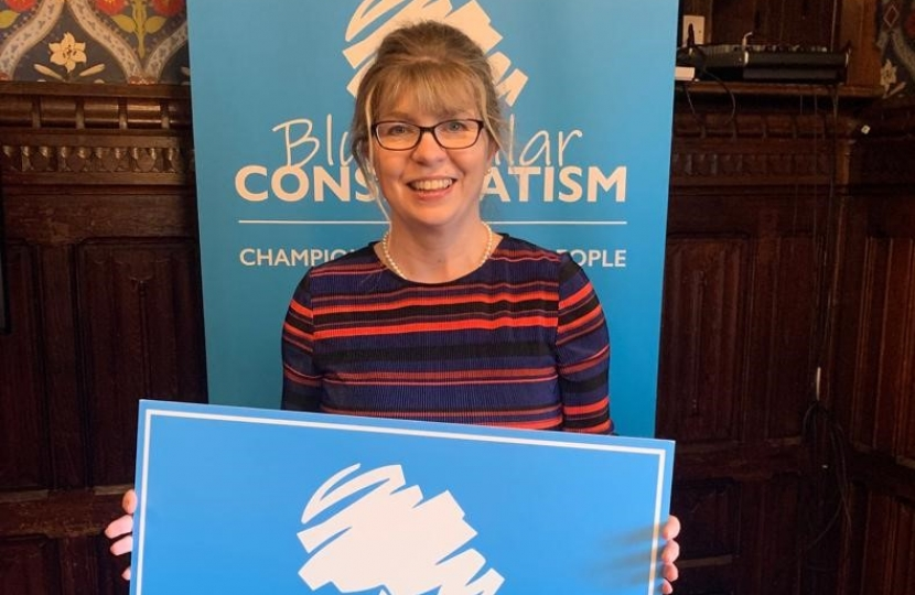 Maria Caulfield at Blue Collar Conservatism launch