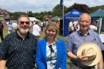 Maria Caulfield Roy Burman John Wilton East Dean fete
