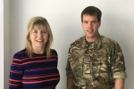 Maria Caulfield and Luke Proudfoot Army Reservist Day