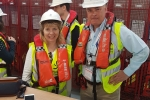 Maria Caulfield and Tim Loughton at Rampion Wind Farm