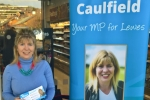 Maria Caulfield Sainsbury's Newhaven supermarket surgery